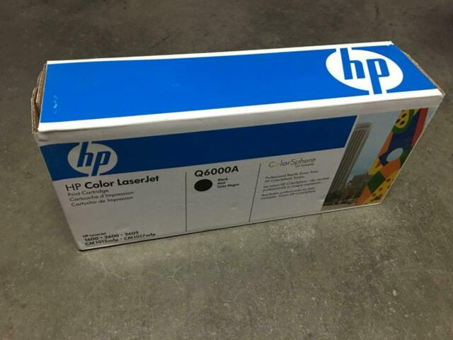 NEW HP Q6000A ORIGINAL OEM BLACK LASERJET TONER CARTRIDGE