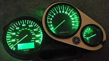 GREEN YAMAHA FZS 1000 FAZER  led dash clock conversion kit lightenUPgrade