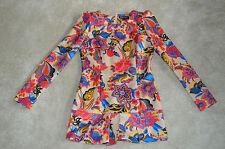 Dolce & Gabbana Multi Colour Floral Womens Blouse Tunic Dress Size Small S UK 8