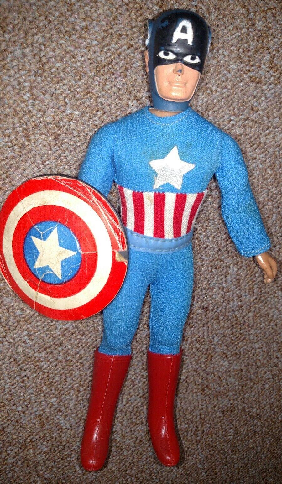 Vintage Mego WGSH 8  World's Greatest Super Heroes Avengers Captain America