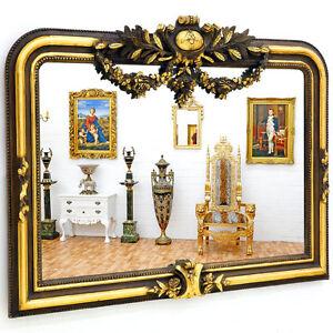 grand miroir baroque 124x84cm glace rococo rocailles style empire louis xv ebay. Black Bedroom Furniture Sets. Home Design Ideas