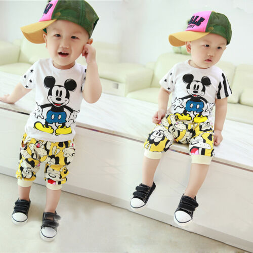2pc baby boys clothes summer Tee+short pants kids boys holiday outfits cartoon