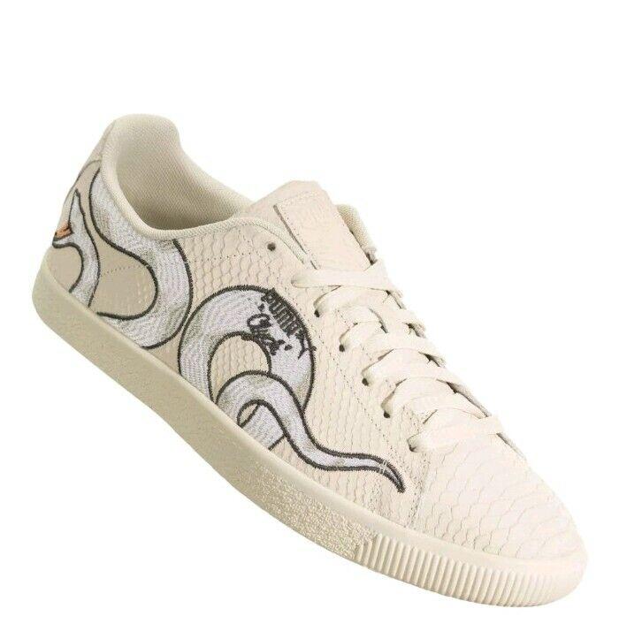 Puma Clyde Snake Embroidery Texturojo Mens Talla 11.5 Style  36811101