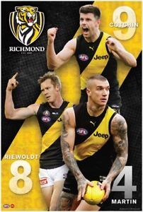 AFL-Richmond-Tigers-Players-POSTER-61x91cm-NEW-Riewoldt-Martin-Cotchin-footy