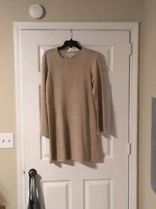 37b3a89718 Michael Kors Gold Ladies Long Sleeved Sweater Dress - Size  Medium ...