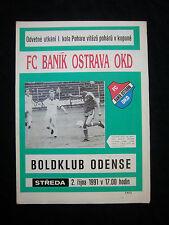 ORIG. prg EC 2 1991/92 banik ostrava-Odense BK rara vez!!!