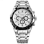 Curren-8084-1-Silver-Black-White-Stainless-Steel-Watch thumbnail 1