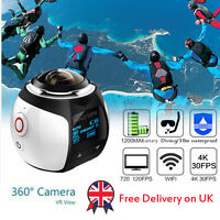 Sports Waterproof Panoramic Action Cam 360 Degree Wifi Virtual Reality Camera