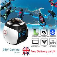 Sports Waterproof Panoramic Action Cam 360 Degree Wifi Virtual Reality Camera