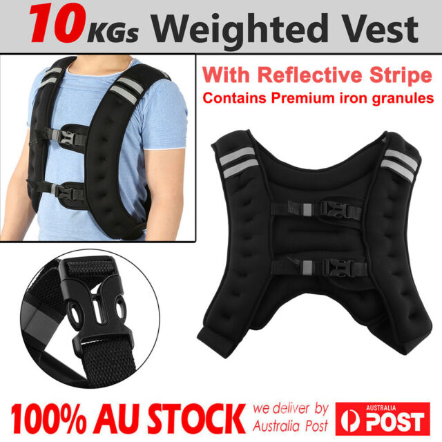 16cc882be76 10kg Weighted Adjustable Sport Weight Vest Strength Training Gym Fitness  Workout for sale online