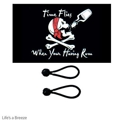 Pirate Flag 5 x 3 Ft Flag Poles Or Windsocks Poles Comes With Free Ball Ties