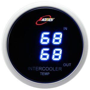 52mm-Dual-Air-Intake-Intercooler-Temperature-Gauge-Meter-Blue-Digital-LED-SMOKE
