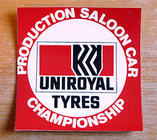 Uniroyal Tyres Production Saloon Car Championship Motorsport Sticker / Decal