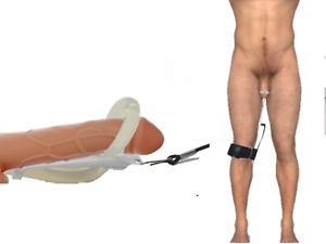 Przedłużacz powiększalnika penisa nosze System nÓg wzmacniających napięcie