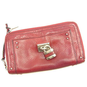 80e9ba576f1 Image is loading Chloe-Wallet-Purse-Long-Wallet-Red-Woman-Authentic-