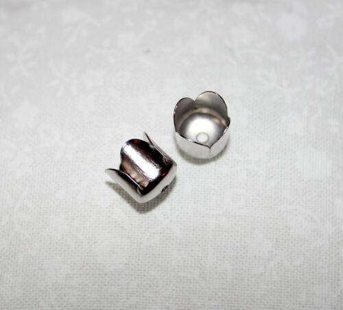 8mmx8mm 50x Plata Tulipan Flor end//bead Conos-Perfecto Para Borla Gorras