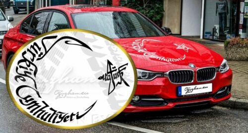 Türkiye Cumhuriyeti Atatürk Sticker Autoaufkleber Wandtattoo Türkei OG-5518017
