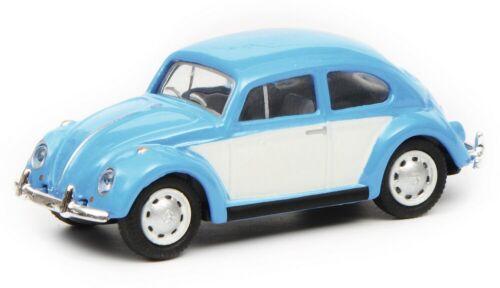 Schuco 26402-1//87 VW MAGGIOLINO-BLU//BIANCO-NUOVO