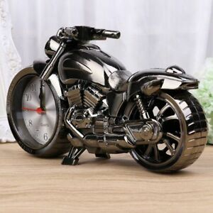 Responsible Plastic Alarm Clock In Shape Of Motorcycle Packing Of Nominated Brand Home Décor