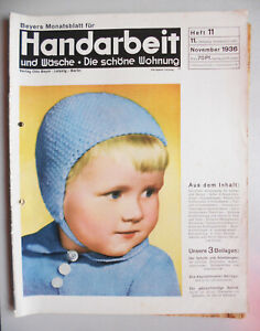 Beyers-Monatsblatt-fur-Handarbeit-Wasche-Heft-11-November-1936-Schnittmuster