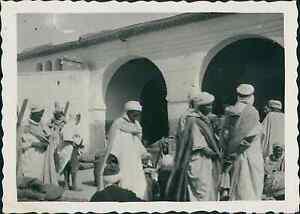 Algerie-Bedouins-Vintage-silver-print-Provenant-d-039-un-album-de-Vacances