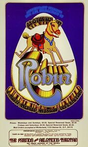Robin Show HANDBILL Multi Media Musical Celabration Rare Postcard Randy Tuten