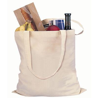 20 Natural Cotton Reusable Grocery Blank Tote Bag  Bulk Art Print Craft 15x16