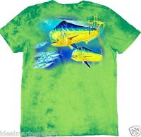 Guy Harvey Men's Double Dodo Lime S/s T-shirt. Pick Size. Fast Ship. New.