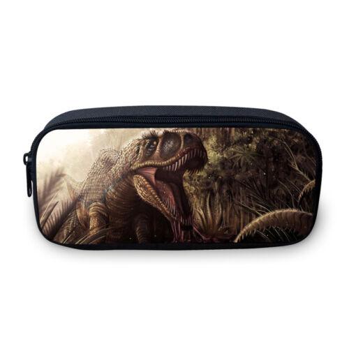 3PCS Jurassic Dinosaur Kid/'s Schoolbag Backpack Cross Body Bag Pencil Case LOT
