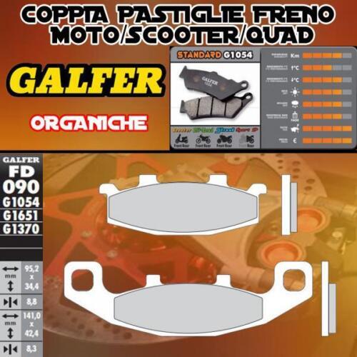 FD090G1054 PASTIGLIE FRENO GALFER ORGANICHE ANTERIORI KAWASAKI ZX 10 TOMCAT 88-9