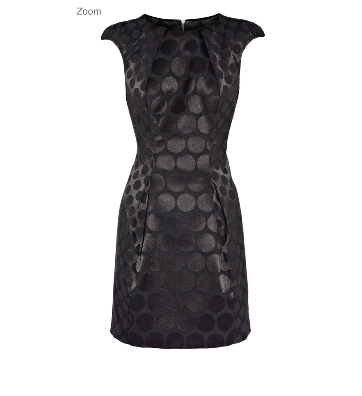 Karen Millem lunares de Jacquard  Negro Vestido Talla 10  tiendas minoristas