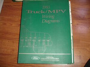 1993 Ford Bronco F150 F250 F350 SDuty Electrical Wiring ...