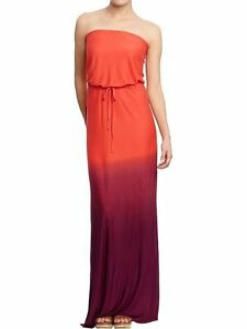 92ca2b5617 Image is loading NEW-OLD-NAVY-CARROT-OMBRE-TUBE-MAXI-DRESS-