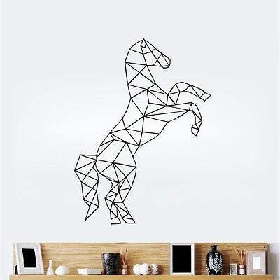 Geometric Horse Wall Sticker 3D Horse Wall Decal Removable Home Decor Art Mural
