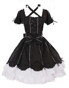 JL-624-3-Black-White-Gothic-Lolita-Ruffle-Dress-Costume-Dress-Cosplay-Stretch