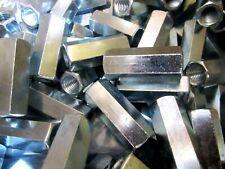 50 Hex Rod Coupling Nuts 12 13 X1 34 Threaded Rod Connectors Zinc
