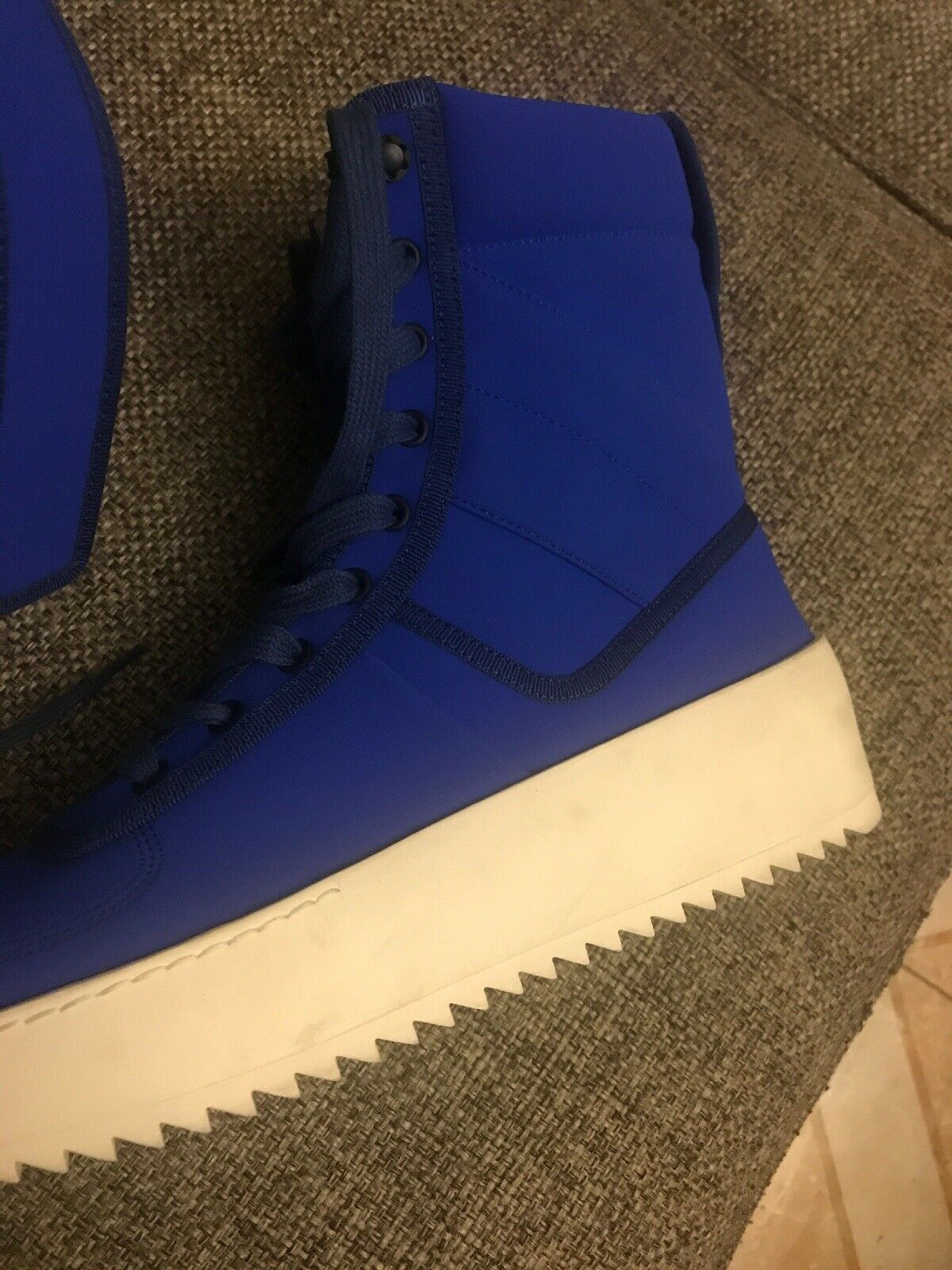 FEAR OF GOD 'Military Sneaker' Royal bluee Hi-Top Sneakers shoes 9 42 1200