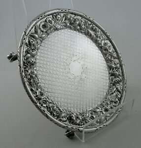 Coin-Silver-AE-Warner-REPOUSSE-footed-salver-with-diapered-bowl-Ca-1840-50