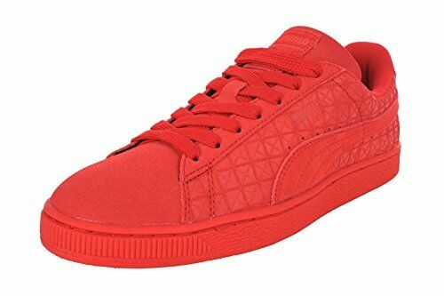 PUMA Mens Suede Classic High Risk Red/White Athletic Shoes Comfortable best-selling model of the brand