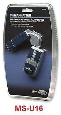 USB Optical Mobile Nano Mouse, w/ 2-Port Hub, MS-U16