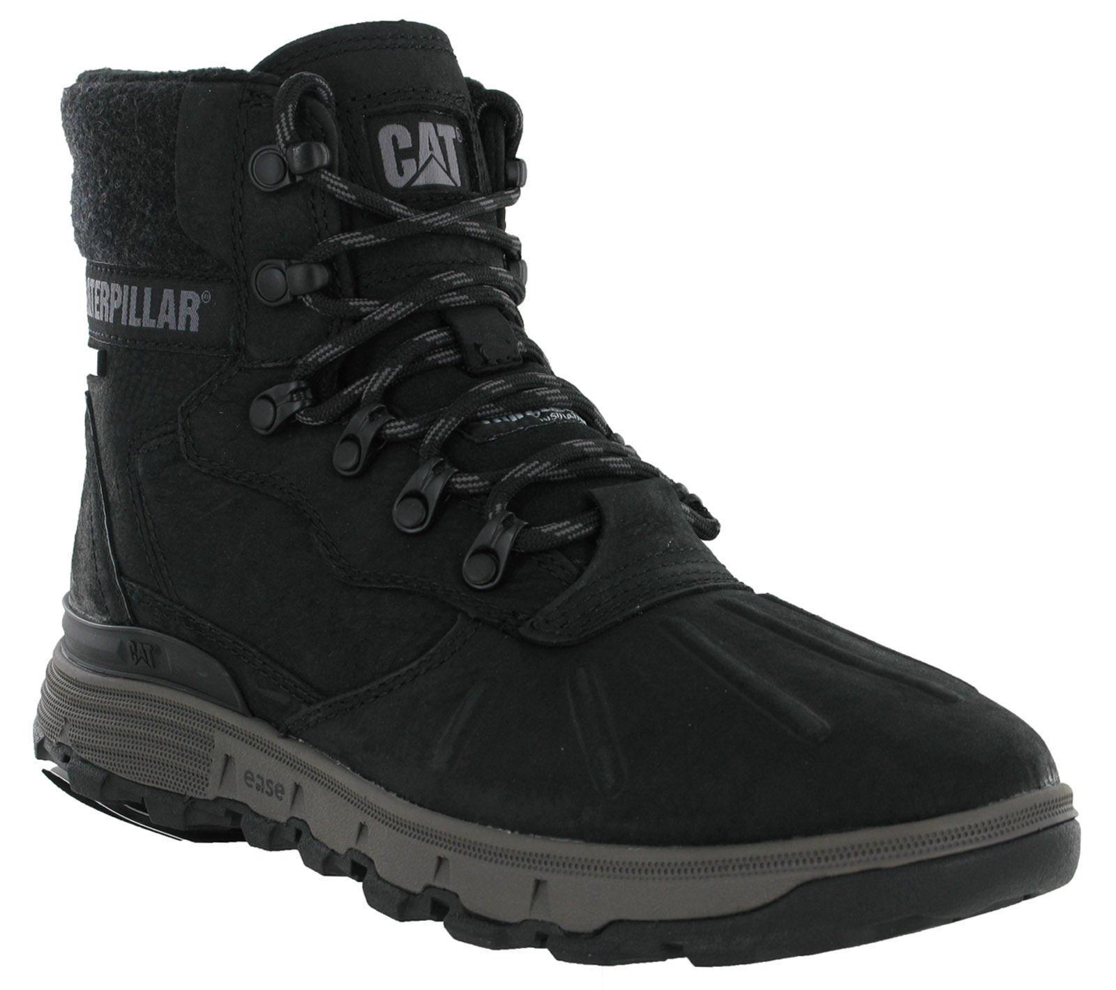 CAT Caterpillar Stiction Ankle Hi Ice Waterproof Snow Ankle Stiction Leather Hombre Grip botas 24ea36