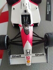 Diecast-Miniature-Car-IXO-1-43-Scale-McLAREN-HONDA-1988-MP4-4-12-Ayrton-Senna