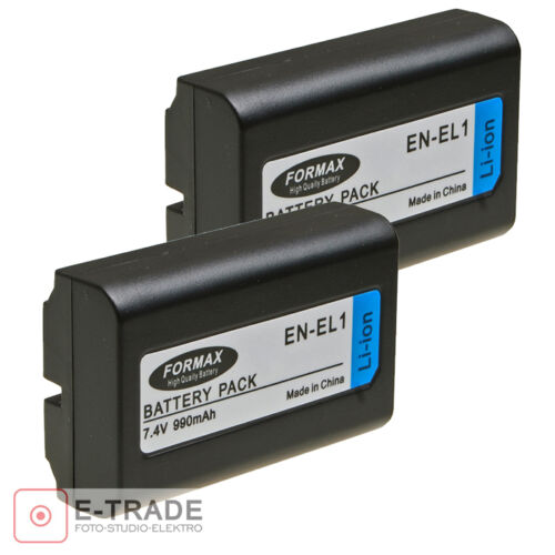 2x EN-EL1 Batería para Nikon Coolpix 4800 5000 5700 8700 900mAh Minolta A200 DG5W