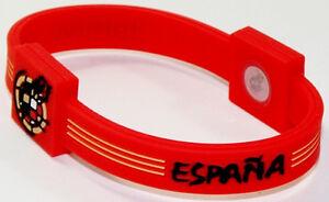 6ebaef52a69e La imagen se está cargando Espana-Futbol-Pulsera-De-Silicona-Deporte-Futbol -Brazalete-