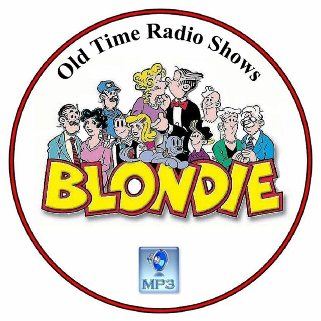 Blondie And Dagwood...50 Old Time Radio Shows MP3 on DVD