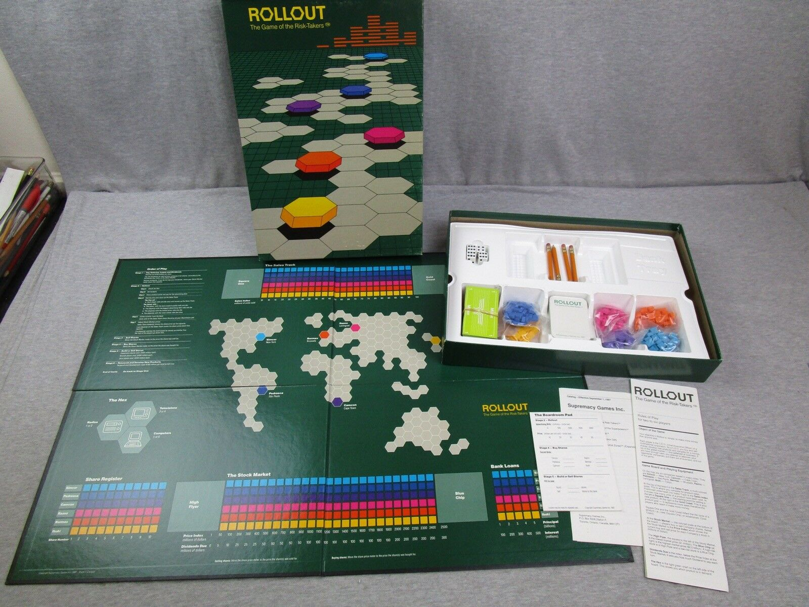 Supremacy Games ROLLOUT Game of the Risk Takers Complete 1987