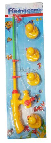 5pc Crochet Un Canard Enfants Bathtime Pêche Jeu Summer Garden Pool Toy Rod Set