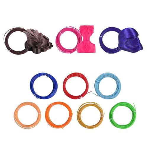 5m//10m Color//set Filament ABS// PLA// PCL 1.75mm for 3D Drawing Printer Pen