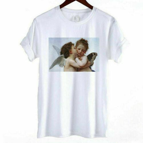 T Shirt Fashion Women Casual Ladies Short Sleeve  Tops Printed Tee Blouse Heart