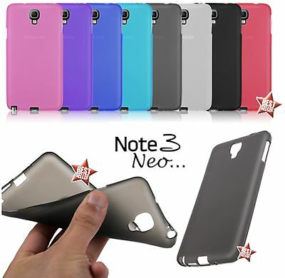 CUSTODIA COVER CASE SUPER SOTTILE per SAMSUNG GALAXY NOTE 3 NEO N7505 PELLICOLA